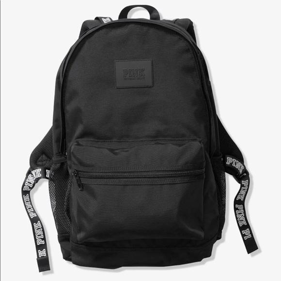 8e9e098538b NEW Vs Pink Campus Backpack Bookbag Black